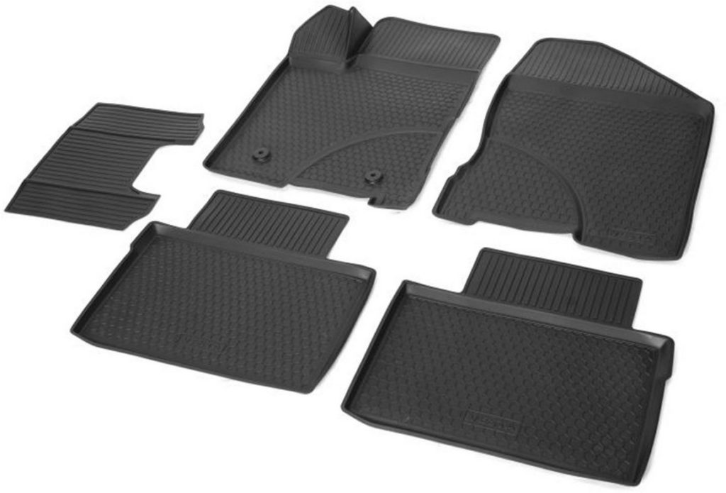 Полиуретановые коврики салона Vesta