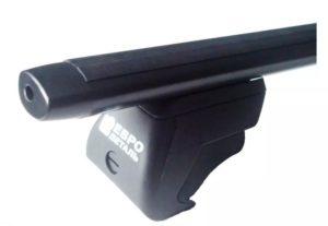 Багажники Евродеталь на рейлинги с просветом, аэродинамика (черный)