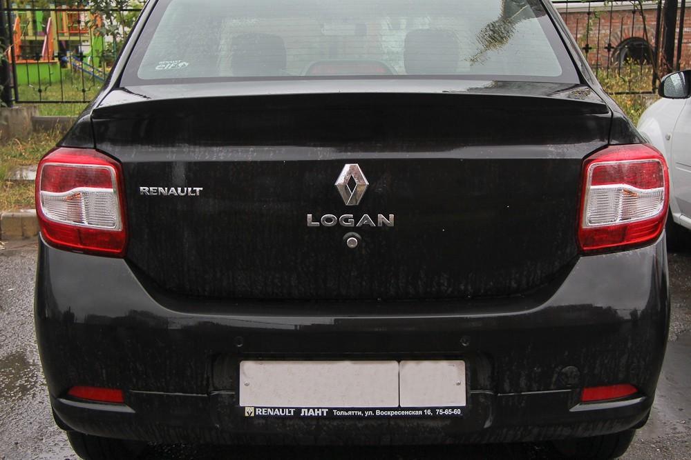 Спойлер – лип (неокрашенный) для Рено Логан II с 2014 г.в.