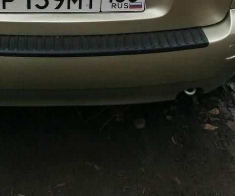 Накладка на задний бампер Лада Калина седан с 2004 г.в.