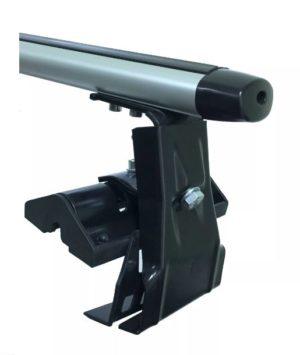 Багажники Евродеталь на гладкую крышу за дверной проем, аэродинамика (серебристый)