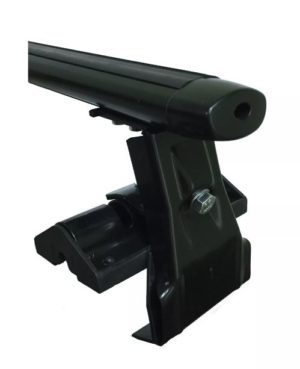 Багажники Евродеталь на гладкую крышу за дверной проем, аэродинамика (чёрный)