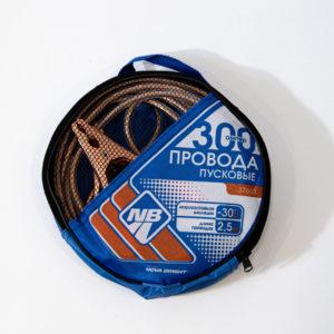 Пусковые провода Nova Bright, 300А, с прозрачной изоляцией, в сумке, 2,5 м.