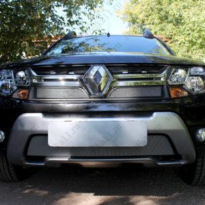 Защита радиатора Renault Duster с 2015 по 2021 г.в., black верх