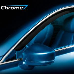Дефлекторы окон CHROMEX с хром. молдингом для KIA RIO 4 поколение