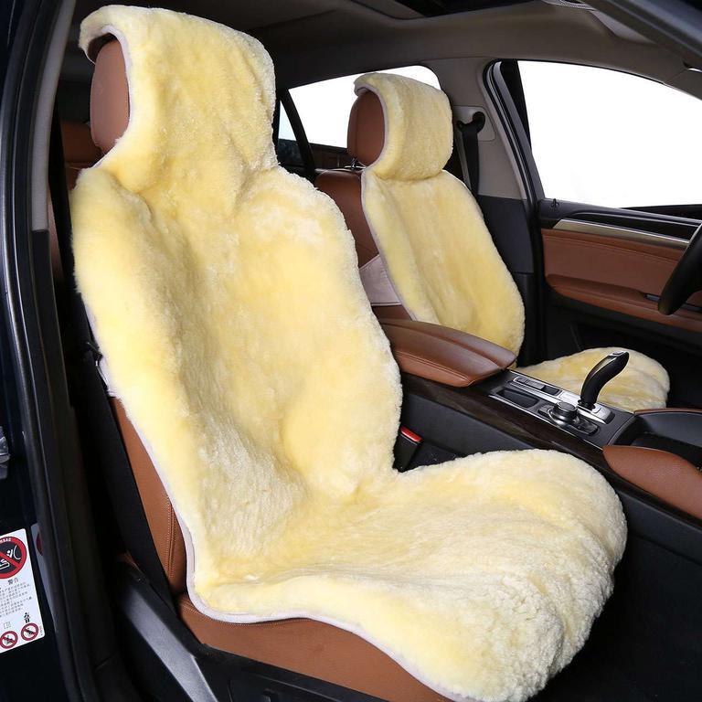 Накидка из овчины на сиденье автомобиля короткий ворс (Австралия) Цвет: бежевый