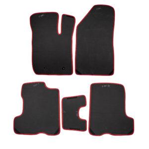 Коврики EVA для LADA XRAY (черный, красный)