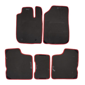 Коврики EVA для Renault Logan II (черный, красный)