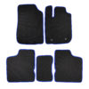 Коврики EVA для Renault Logan II (черный, синий)