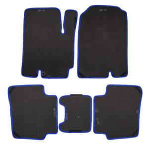 Коврики EVA для Kia Rio 4-е поколение (черный, синий)