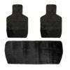 Накидки на задние сидения, велюр-полоса, цвет черный