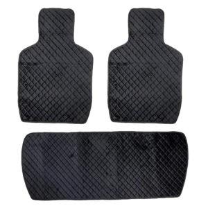 Накидки на задние сидения, велюр-ромб, цвет черный