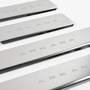 Накладки на пороги в проем дверей (нержавейка) для Renault Arkana