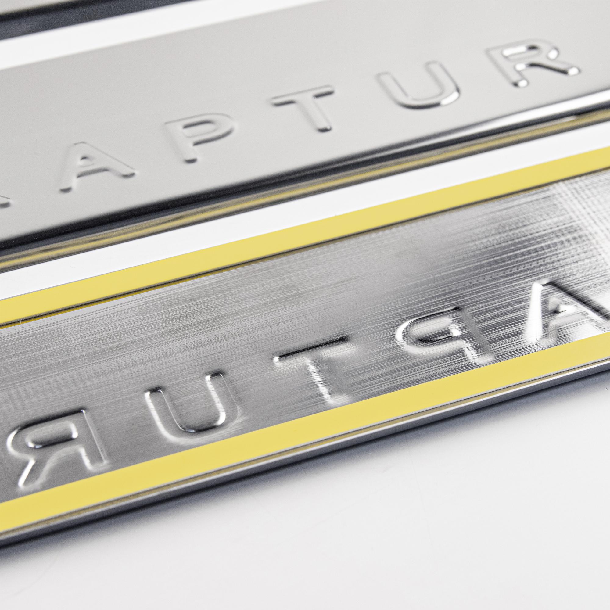 Накладки на пороги в проем дверей (нержавейка) для Renault Kaptur2