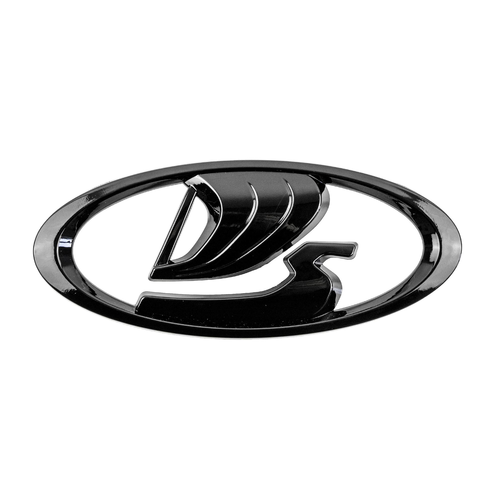 Орнамент задка «LADA» (нового образца на шаблоне) – черный глянец
