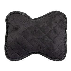 Подушки на подголовник, алькантара-ромб, цвет черный