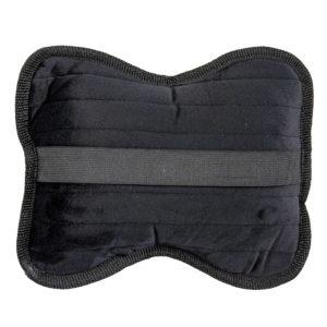 Подушки на подголовник, велюр-полоса, цвет черный