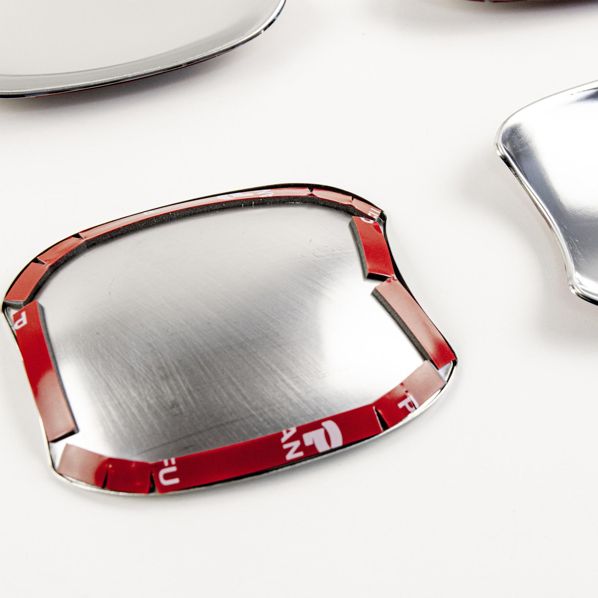 Защитные чашки под внешние ручки дверей для LADA Vesta (нержавейка)2
